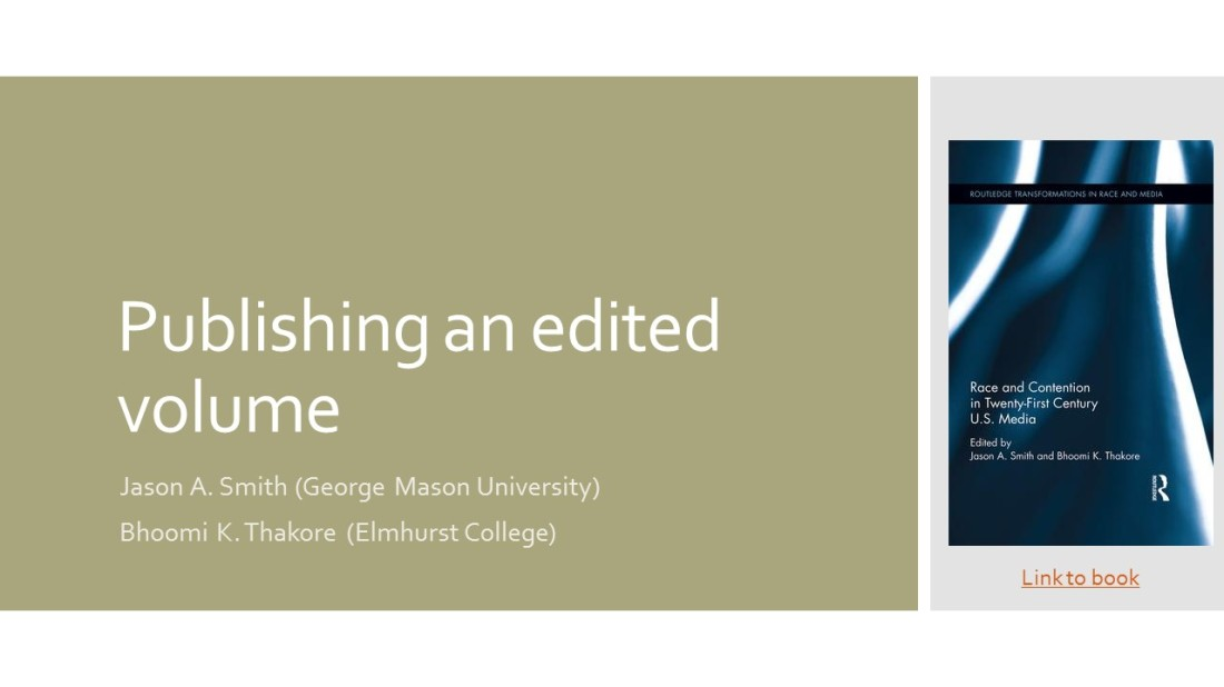 Publishing an edited volume